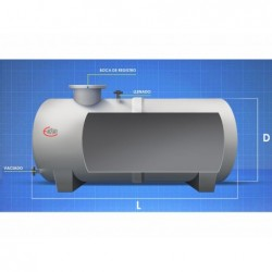 Cisterna Agua Potable 2150 Lts Horizontal Superficie