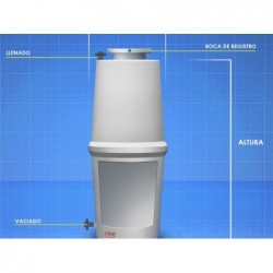 Cisterna Agua Potable 4200 Lit Formato Vertical Superficie