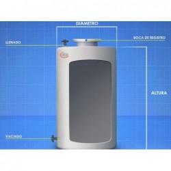 Cisterna Agua Potable 6000 Lit Vertical Fondo Plano Superficie