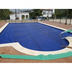 Cobertor Térmico Solar (Burbuja) Azul De 400 Micras Para Piscina 7X3.5