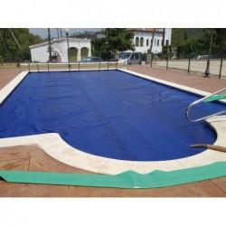 Cobertor Térmico Solar (Burbuja) Azul De 400 Micras Para Piscina...